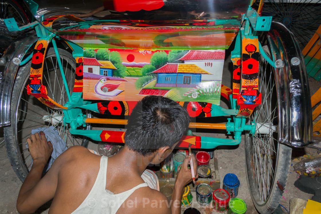 """""""Rickshaw Art"""" stock image"""