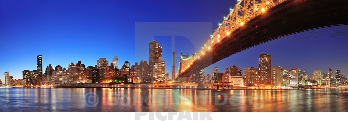 """Queensboro Bridge and Manhattan"" stock image"