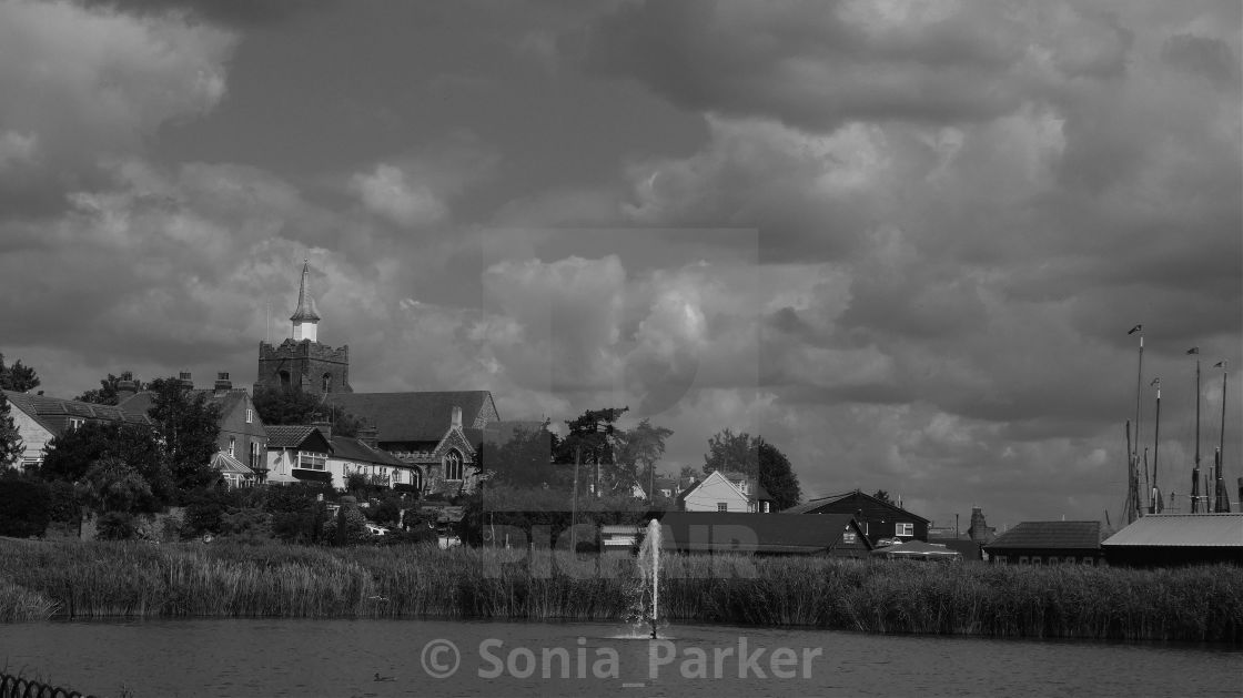 """Maldon Essec in Black and White"" stock image"