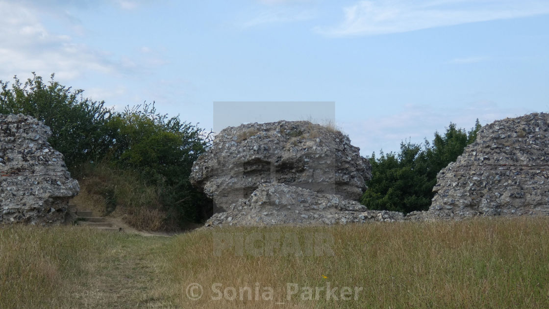 """Burgh Castle, Ancient Roman Ruins, Norfolk England 5"" stock image"