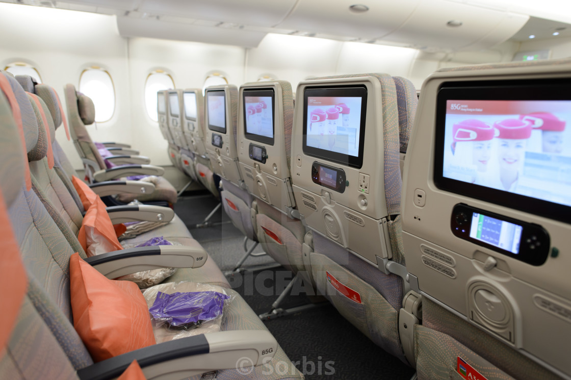 Emirates Airbus A380 Aircraft Interior License Download Or Print