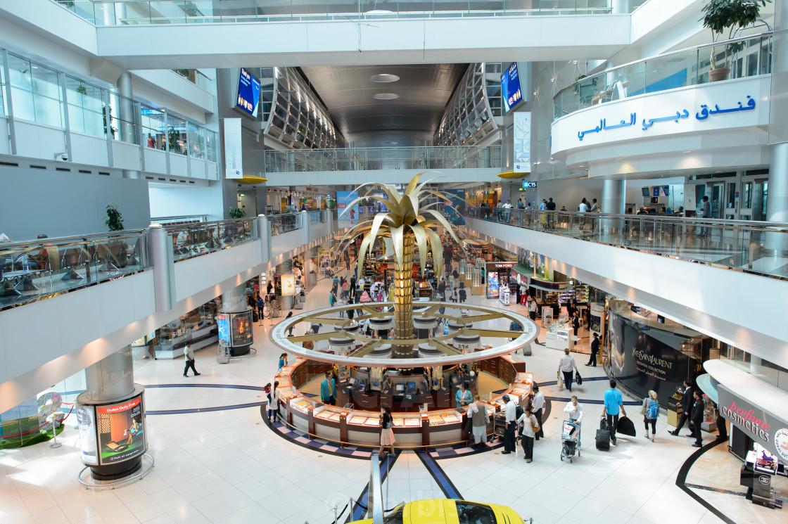 Dubai International Airport interior - License, download or