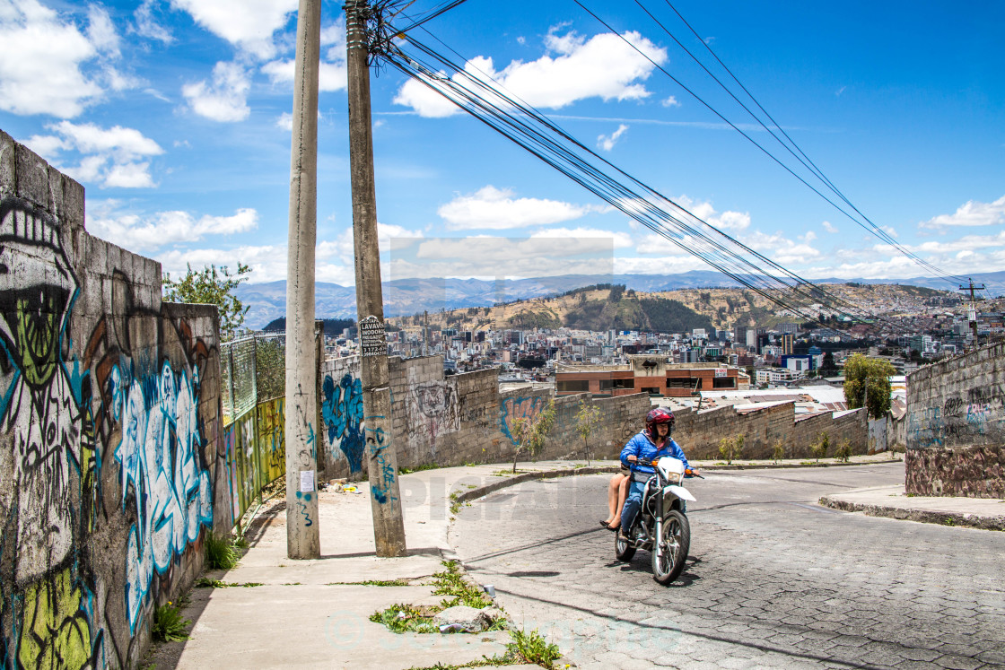 """Streets of Quito, Ecuador"" stock image"