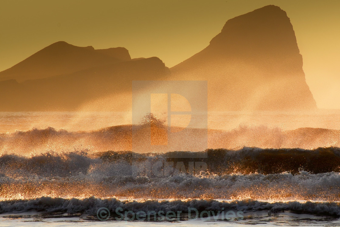 """Worms Head , Gower"" stock image"