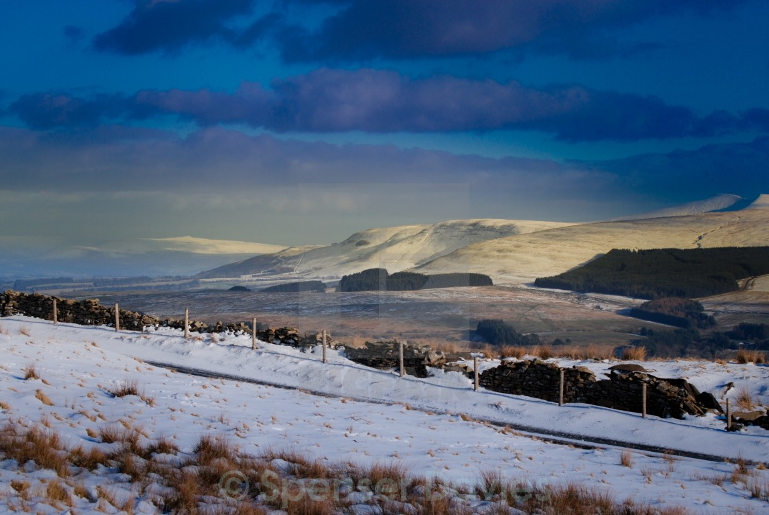 """Pen Y Fan on the right hand side"" stock image"