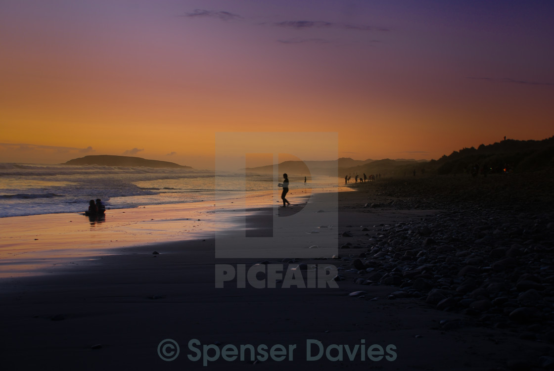 """Llangennith... the dream"" stock image"
