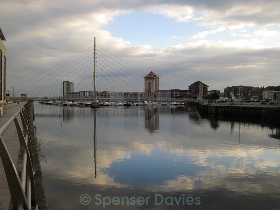 """Toothpick Bridge Swansea"" stock image"