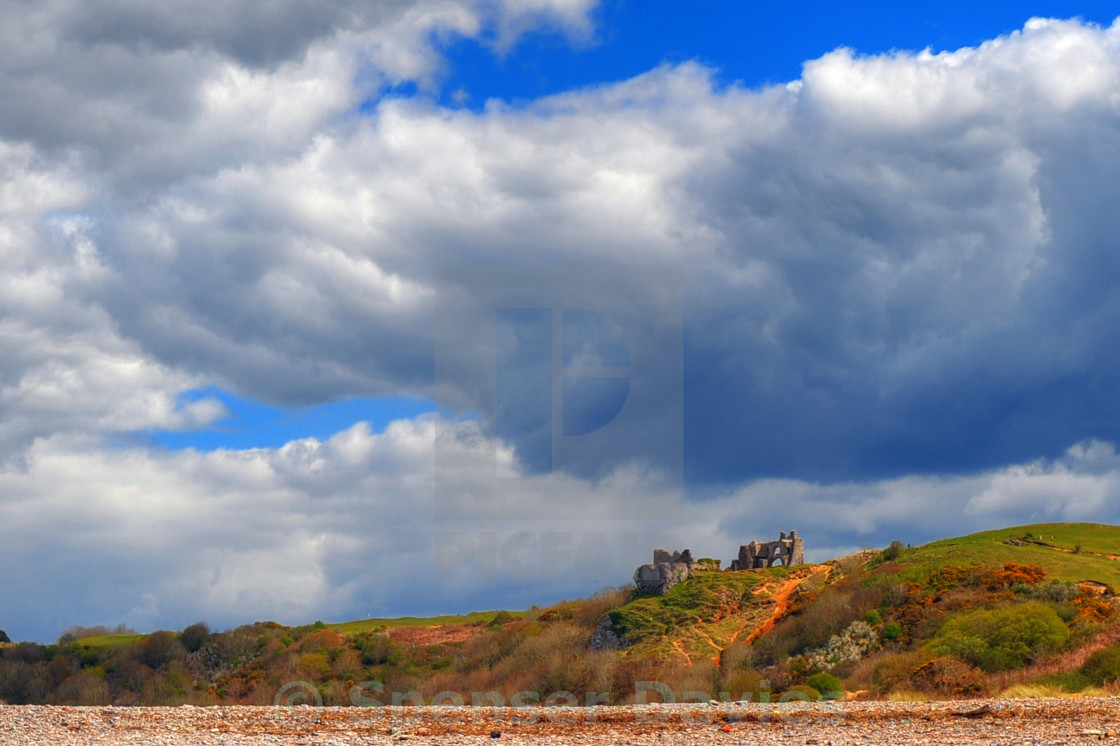 """Pennard Castle, Gower"" stock image"