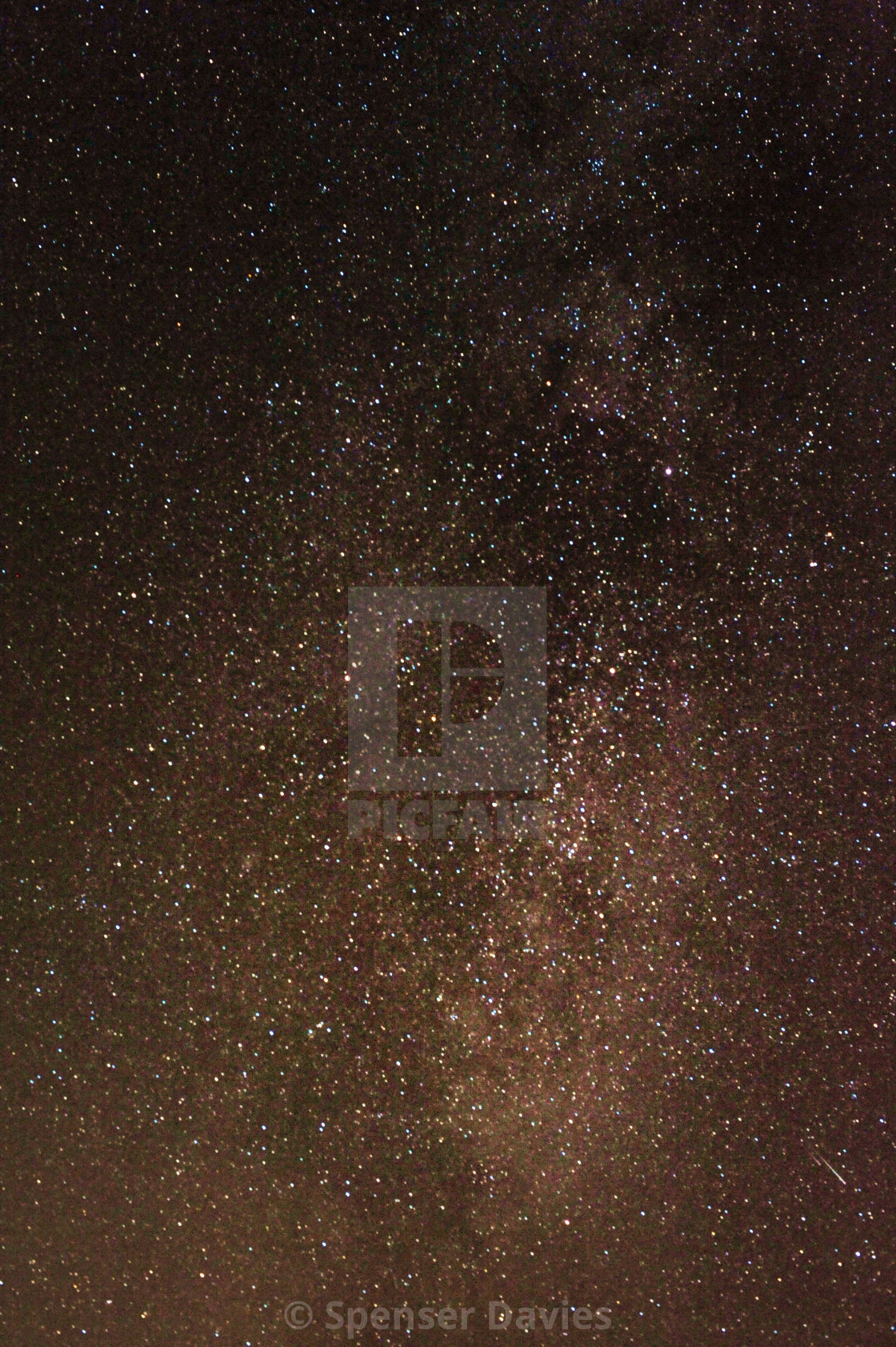 """Tonights Milky Way"" stock image"