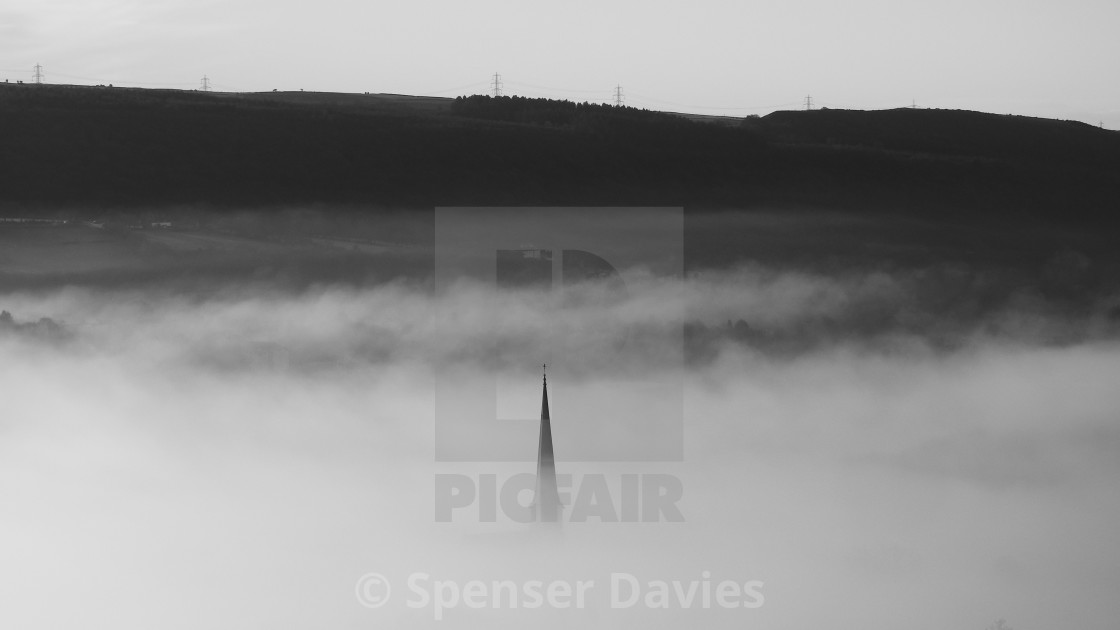 """Blanket over Pontardawe"" stock image"