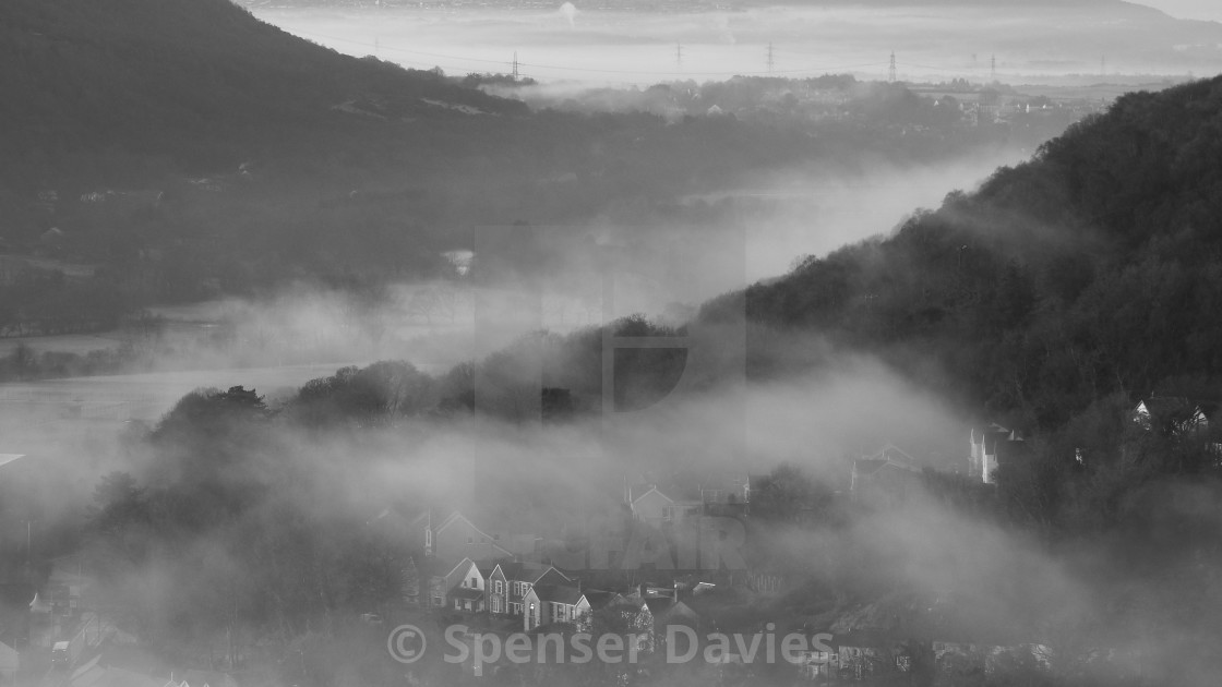 """Swansea Valley. Pontardawe"" stock image"