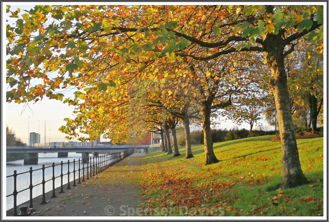 """Swansea in the Autumn"" stock image"