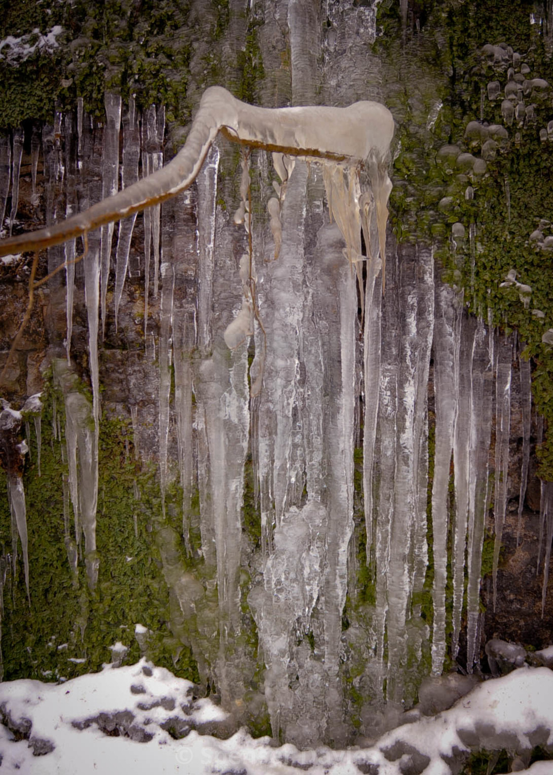 """ice waterfall"" stock image"