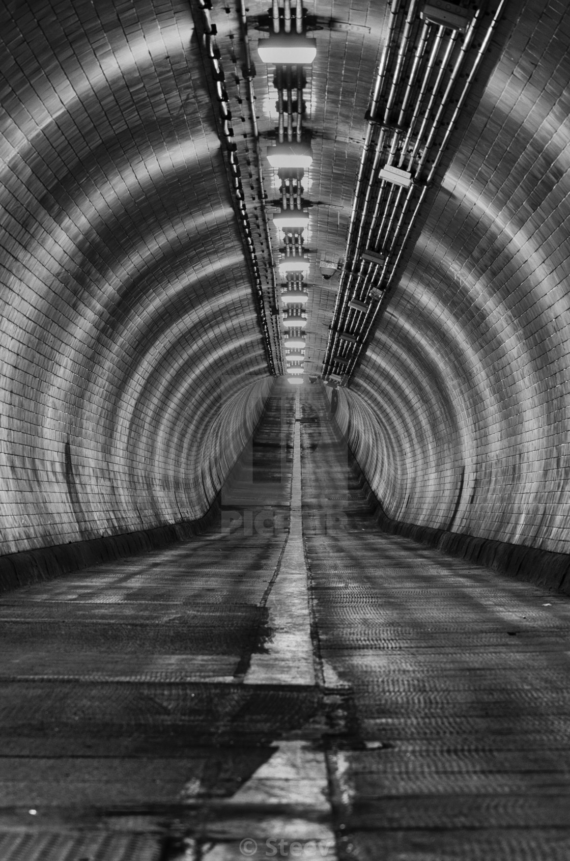 """Woolwich foot tunnel"" stock image"