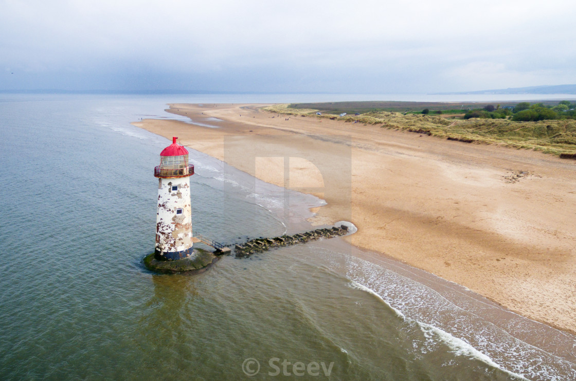 """Talacre aerial 2"" stock image"