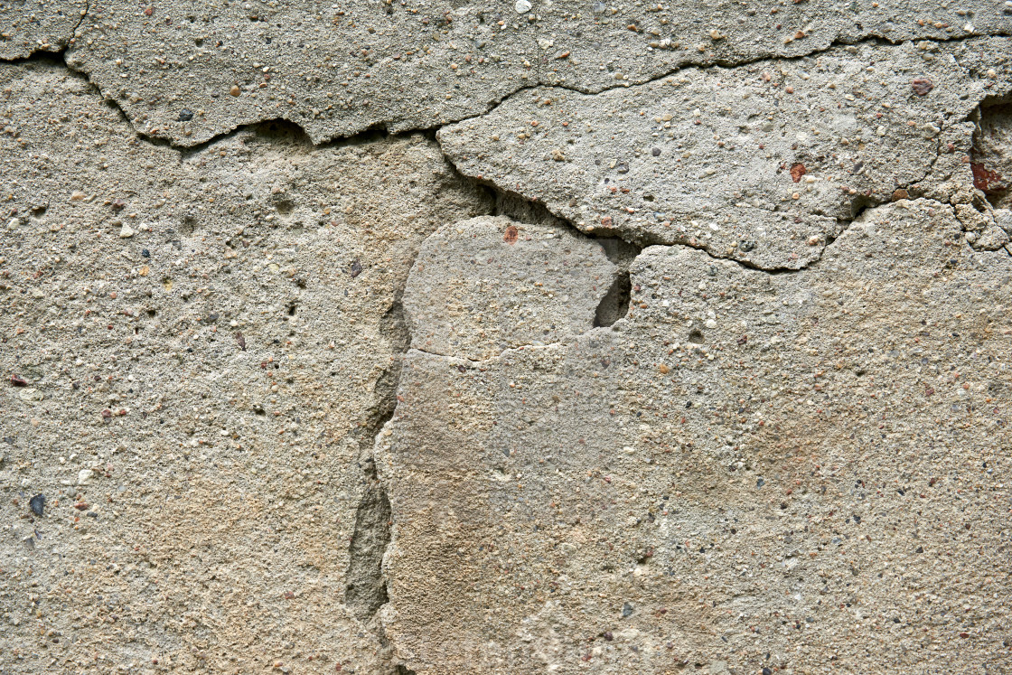 """""""cracked color on a wall outside"""" stock image"""