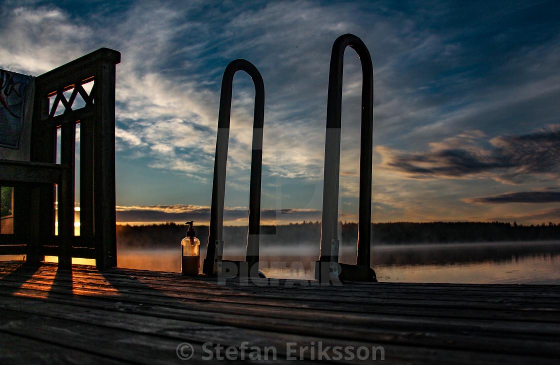 """Sunup in Värmland, sweden"" stock image"