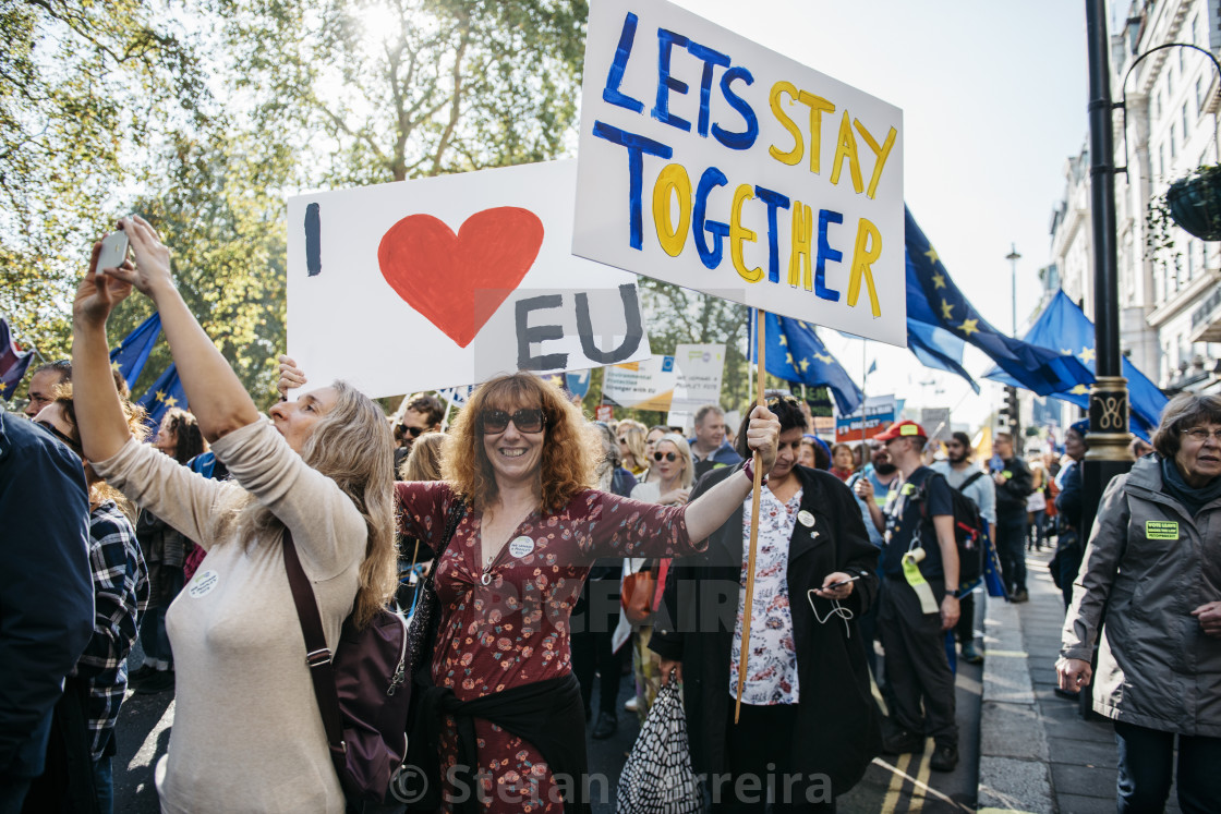 """Peoples' Vote March [7]"" stock image"