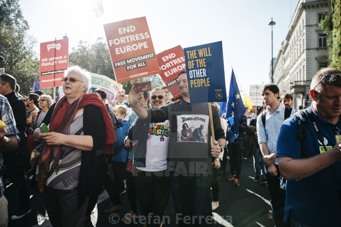 """Peoples' Vote March [6]"" stock image"