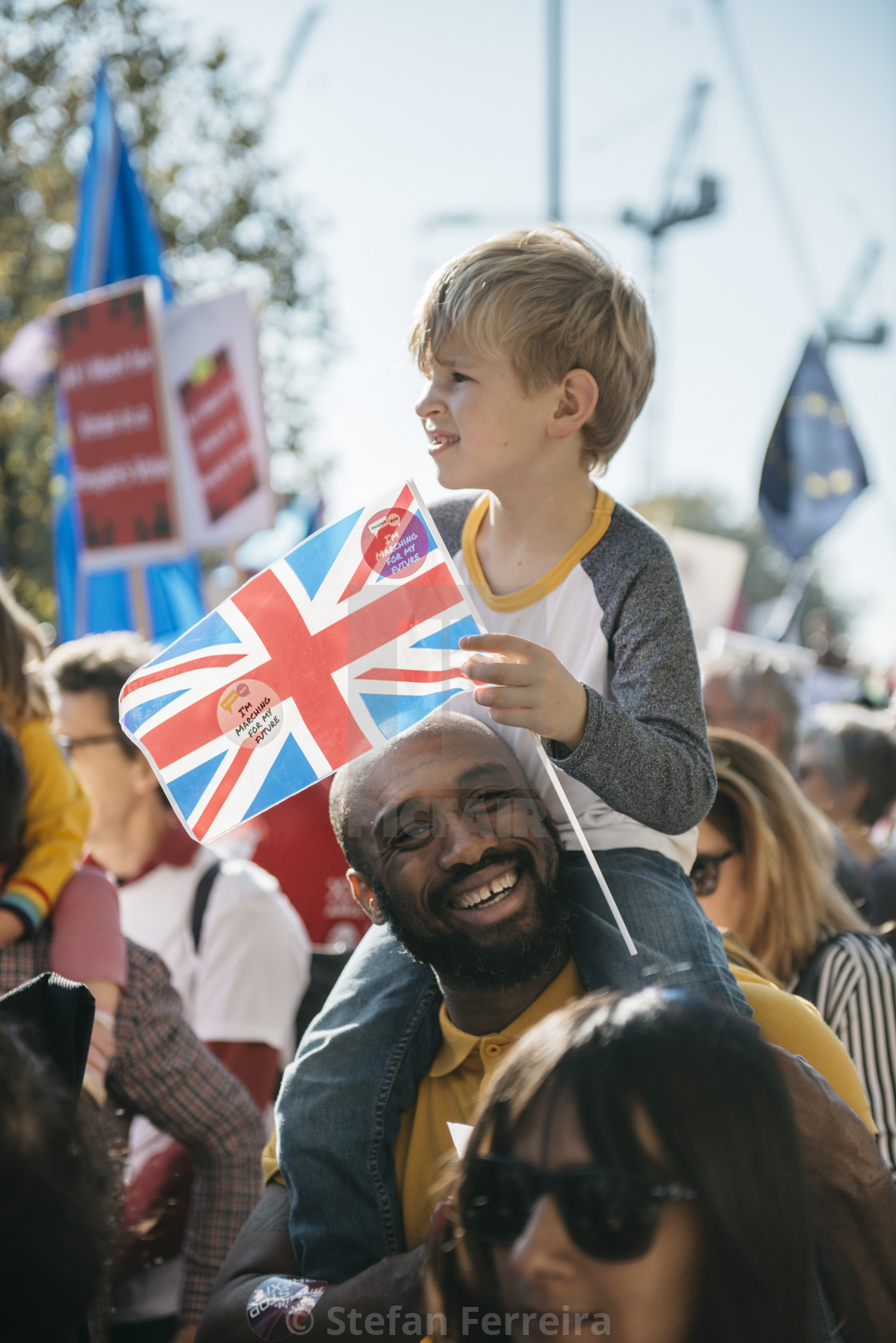 """Peoples' Vote March [4]"" stock image"