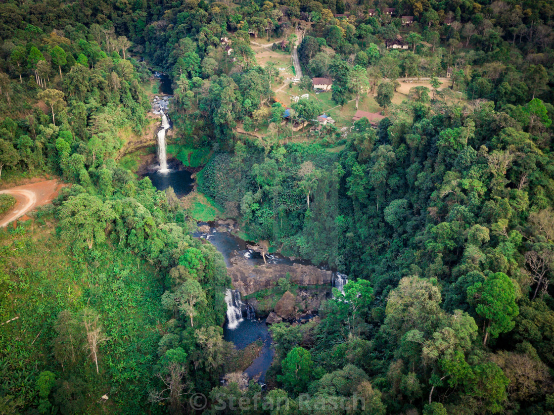 """Bolaven Plateau at south Laos - Tad e-Tu Waterfalls"" stock image"