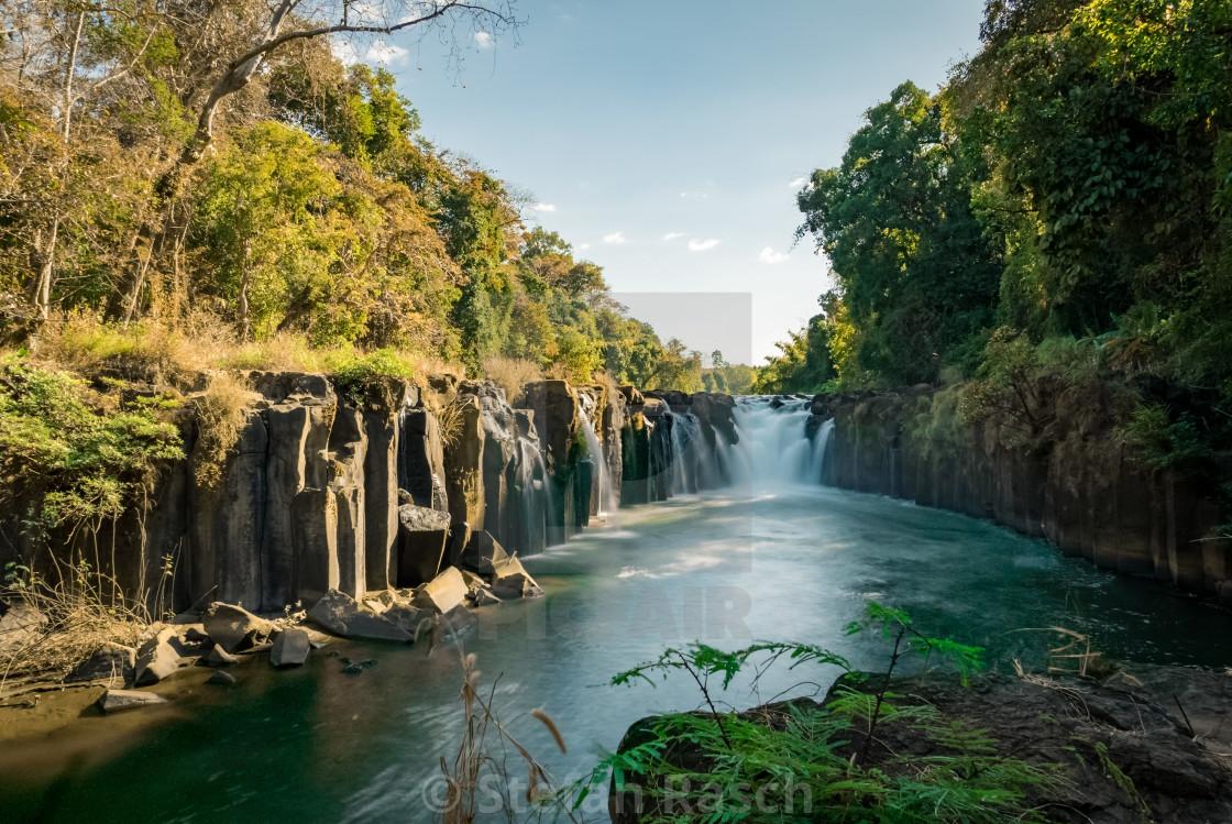 """""""Pha Suam Waterfall - South Laos Pakse"""" stock image"""