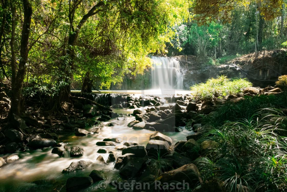 """Waterfall - South Laos Pakse bolaven-plateau"" stock image"