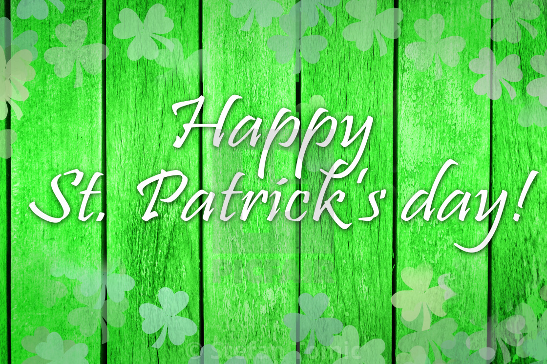 Happy St Patricks Day Note On A Wooden Texture License Download