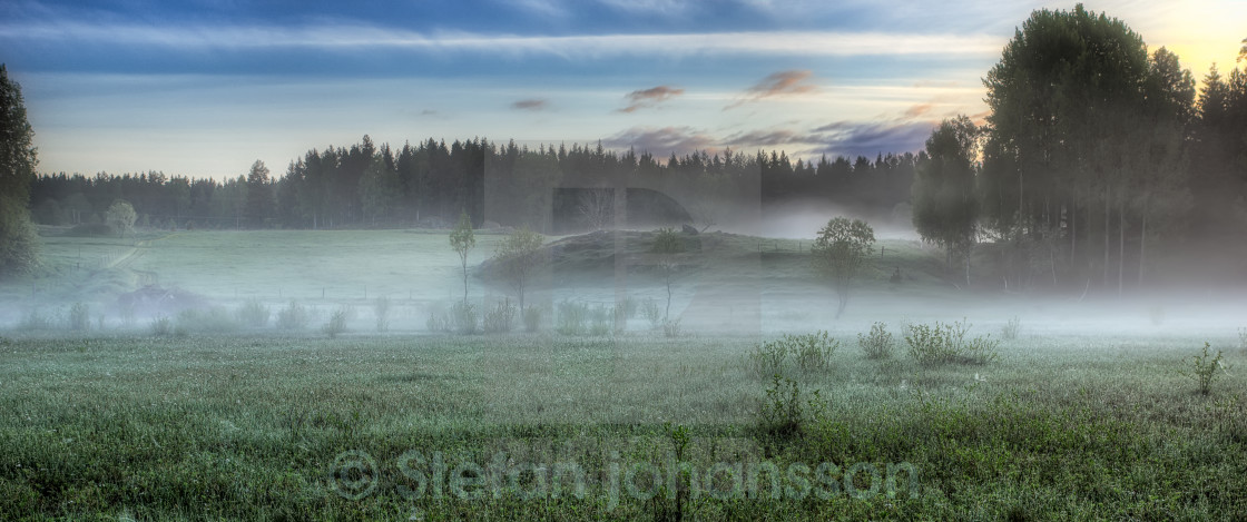 """Misty field"" stock image"