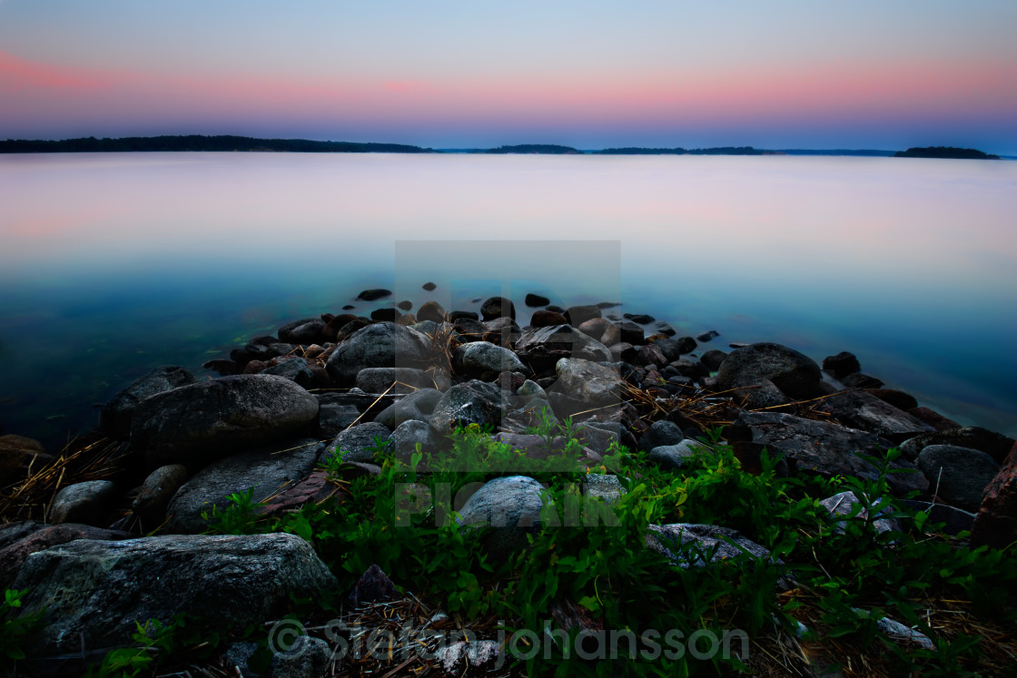 """Baltic sea sunrise"" stock image"