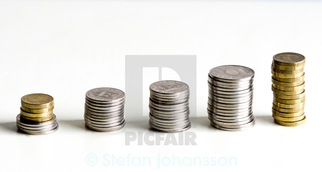 """""""Line of Coins"""" stock image"""