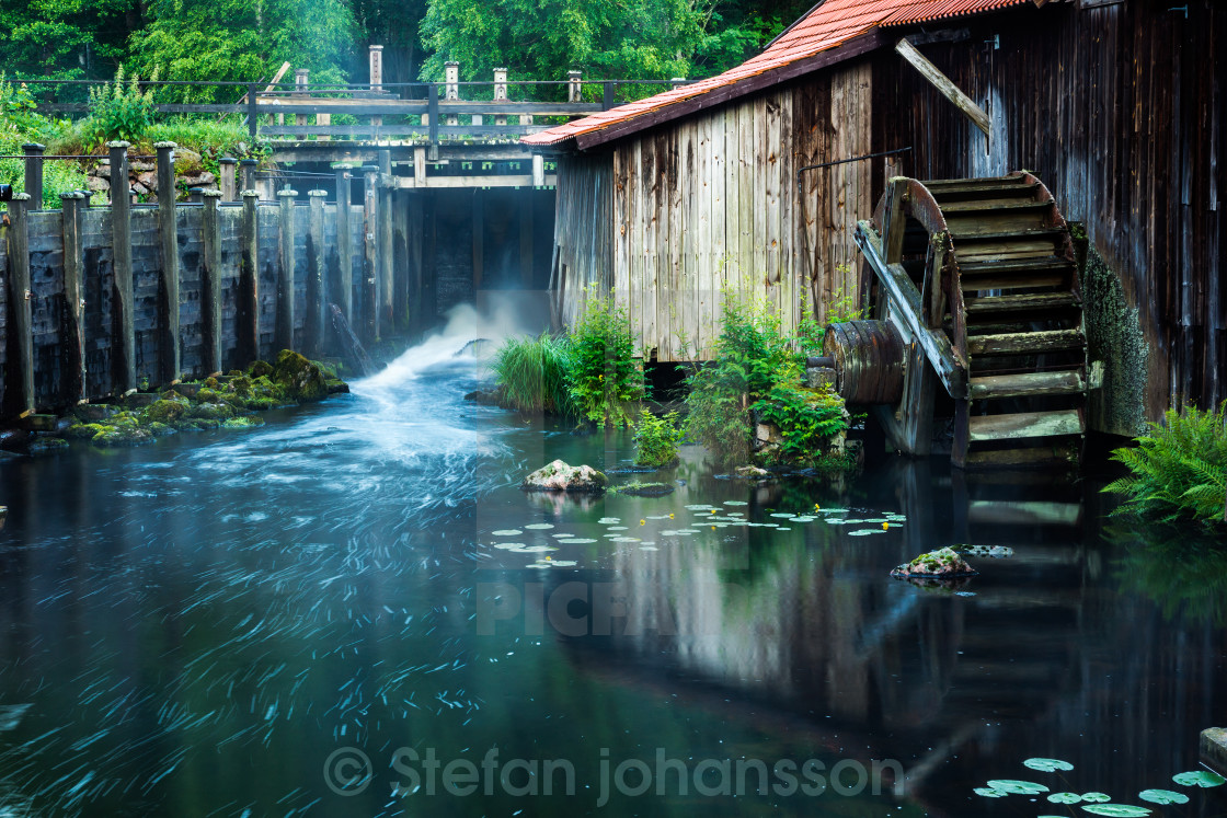 """Old water wheel"" stock image"