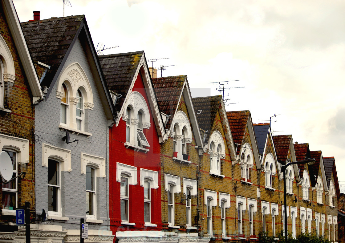 """London houses"" stock image"