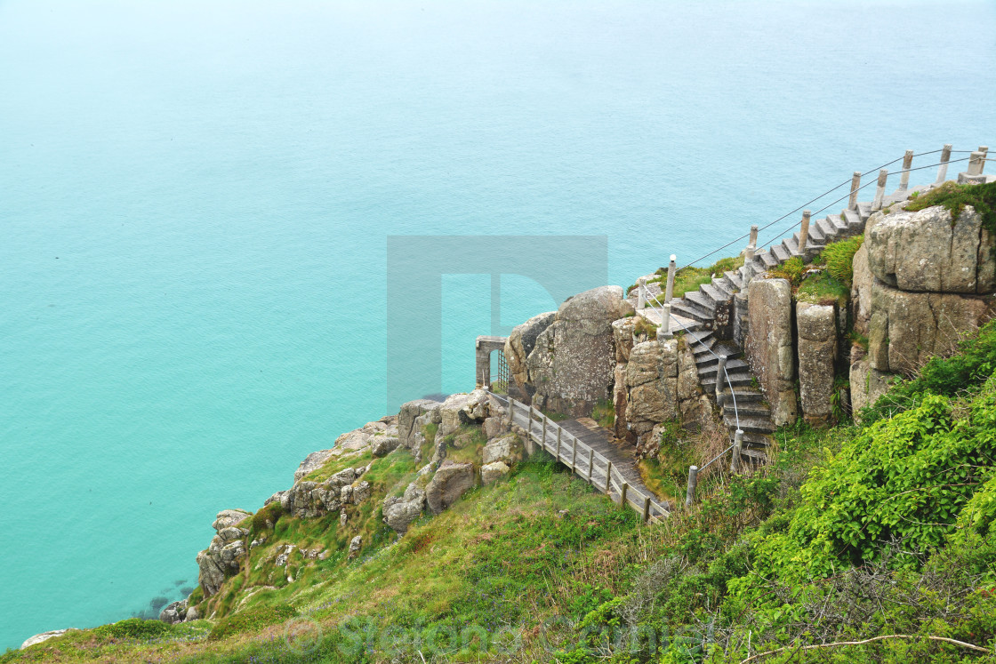 """Cornwall sea"" stock image"