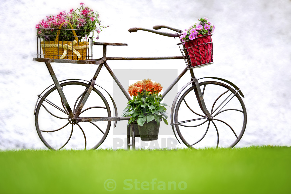 """Iron Hand Made Bicycle"" stock image"