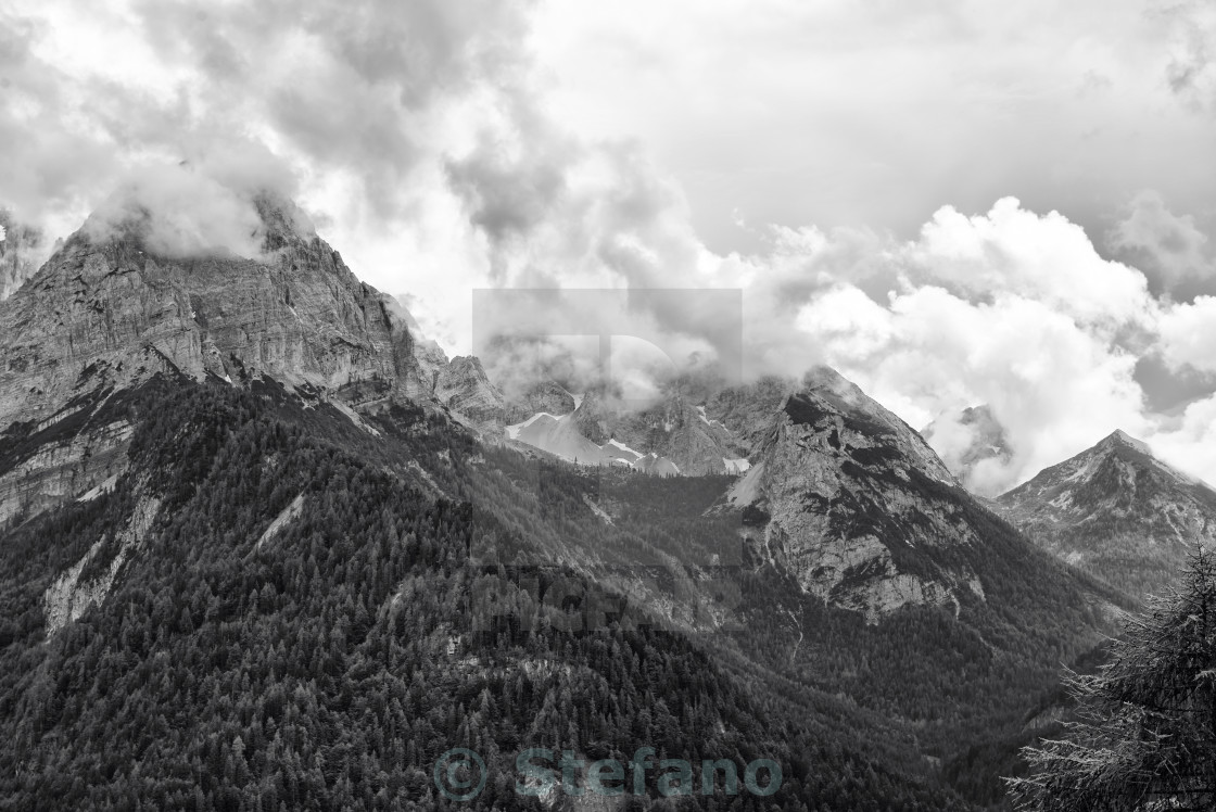 """Landscape of Dolomites Mountains"" stock image"