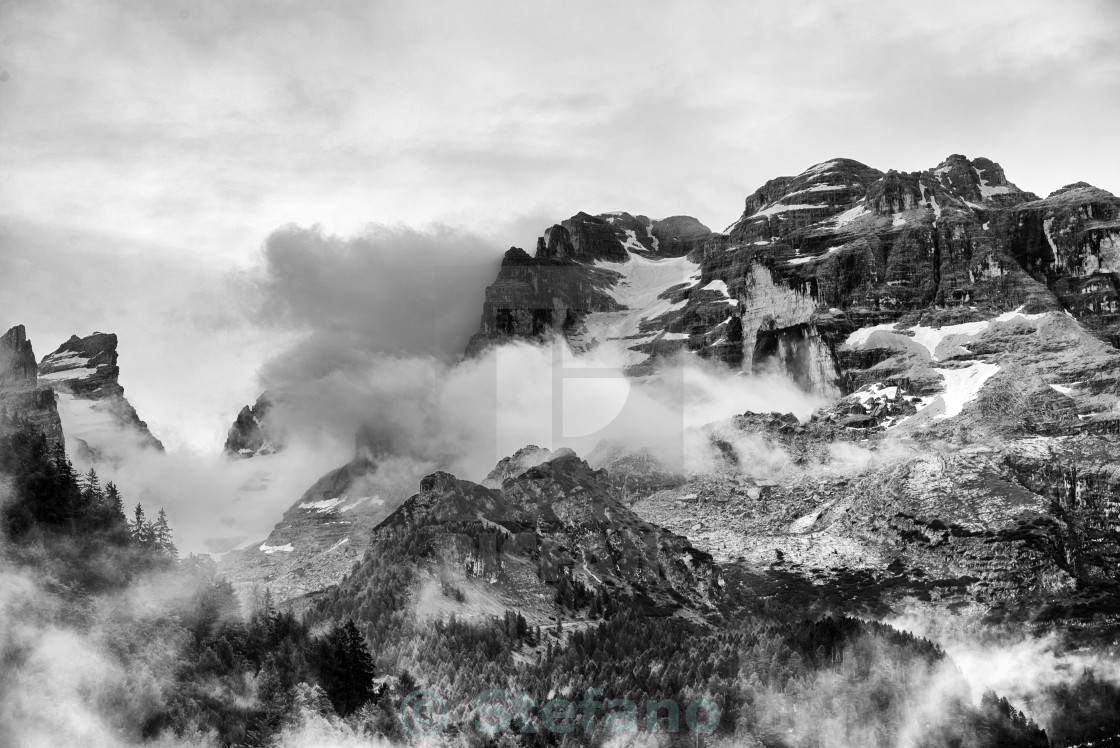 """""""Landscape of Dolomites Mountains"""" stock image"""