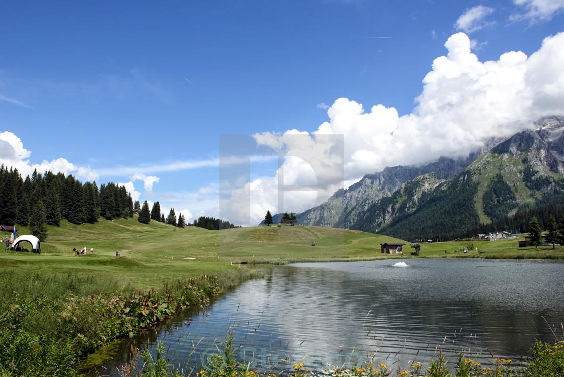 """""""Landscape in Trentino Dolomites Alps"""" stock image"""