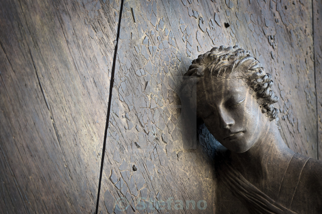 """Bronze Sculpture Profile"" stock image"