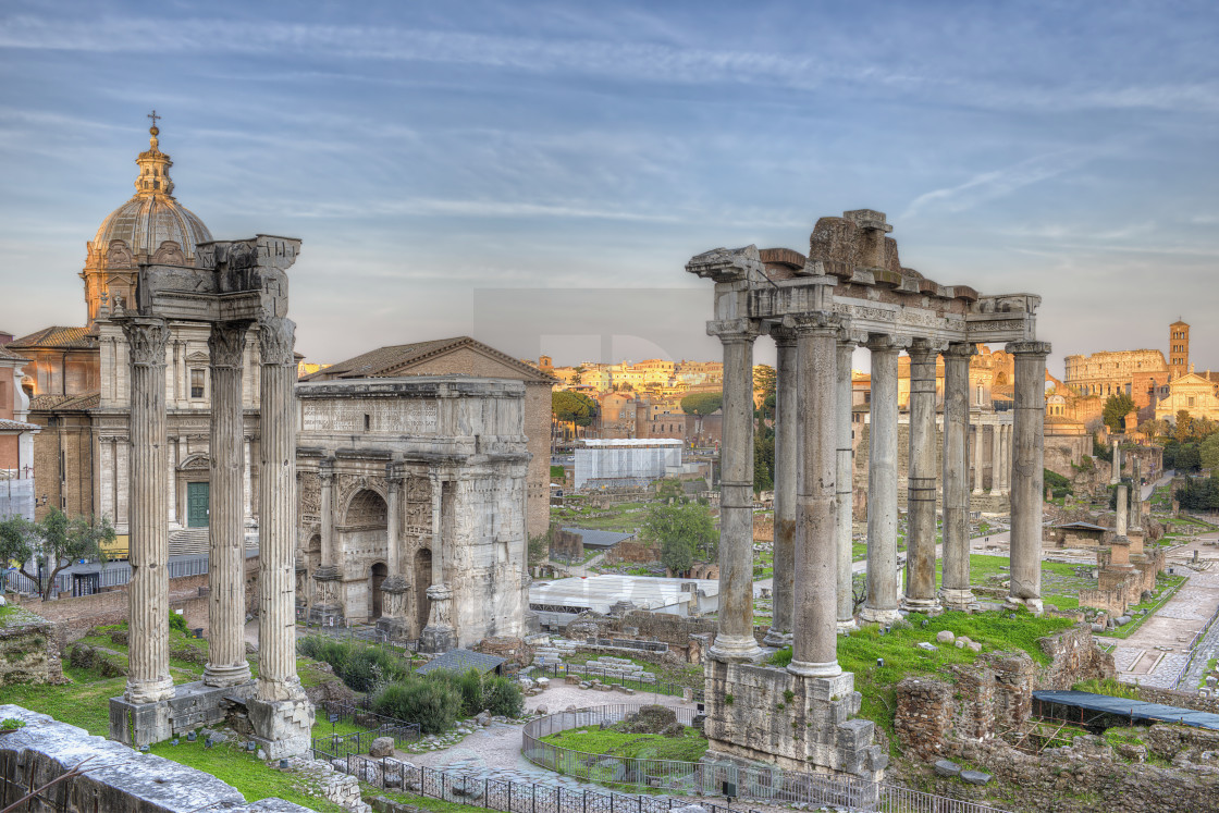 """Roman Forum Sunset"" stock image"