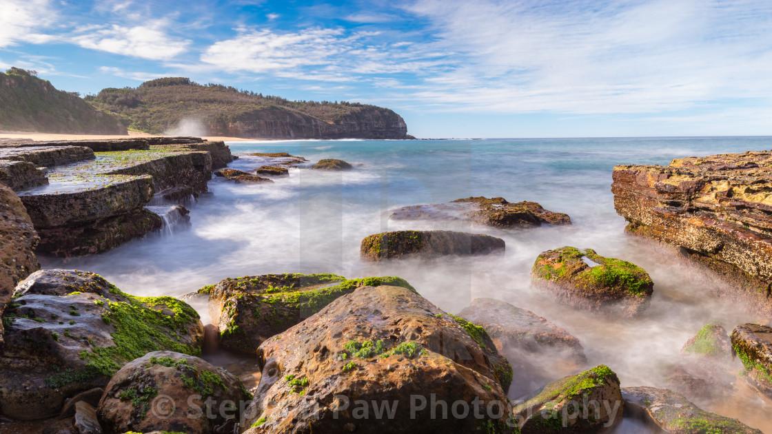 Swirling ocean of Turimetta Beach // Sydney, Australia