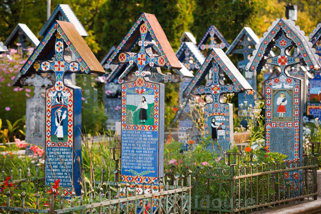 """""""sapanta cemetery"""" stock image"""