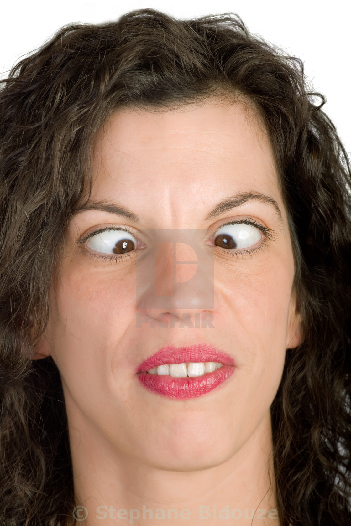"""""""woman squinting"""" stock image"""