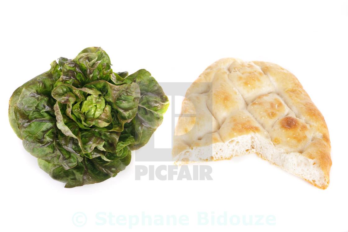 """salad and pita bread"" stock image"