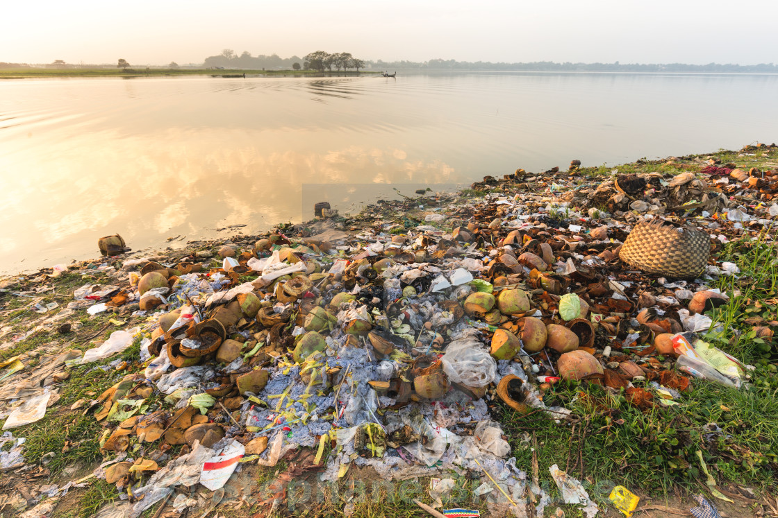 """Water rubbish pollution"" stock image"