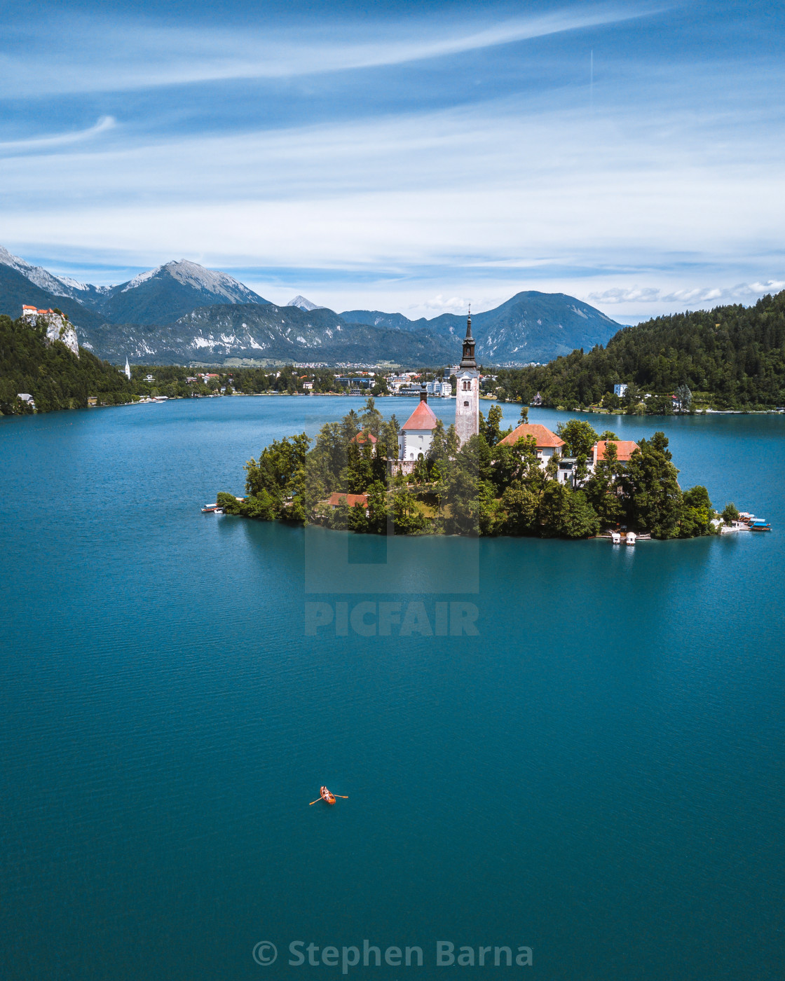 """Bled Island in Lake Bled, Slovenia 