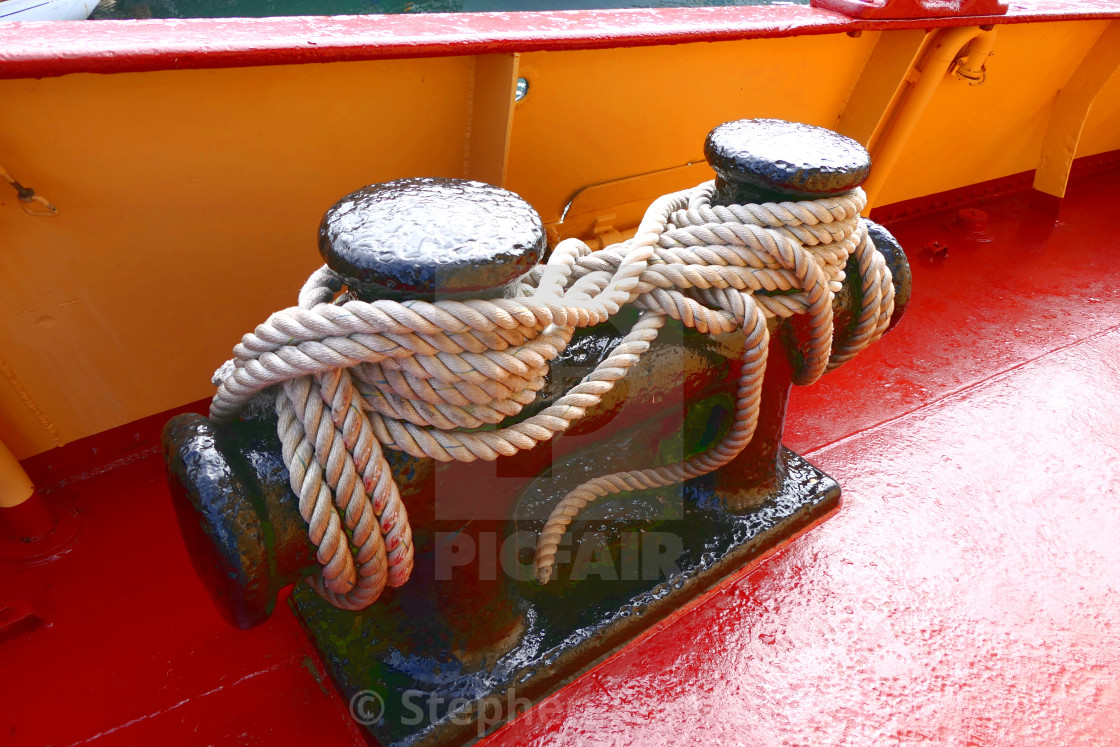 """Mooring Ropes"" stock image"