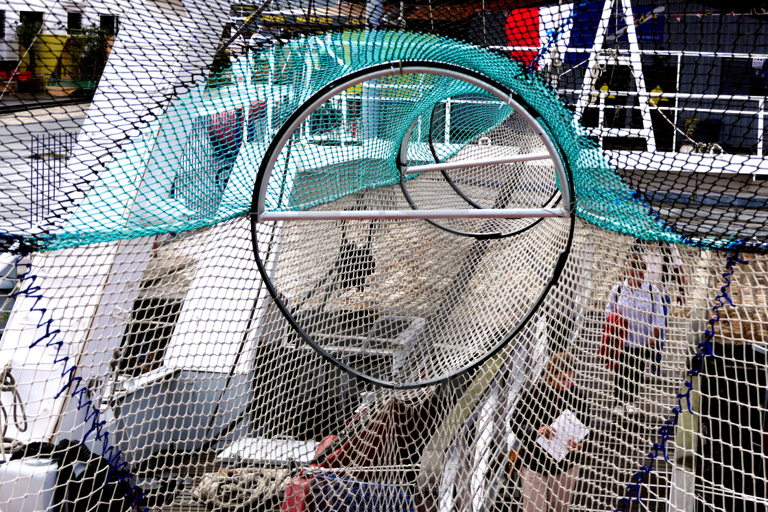 """Trawler fishing net"" stock image"