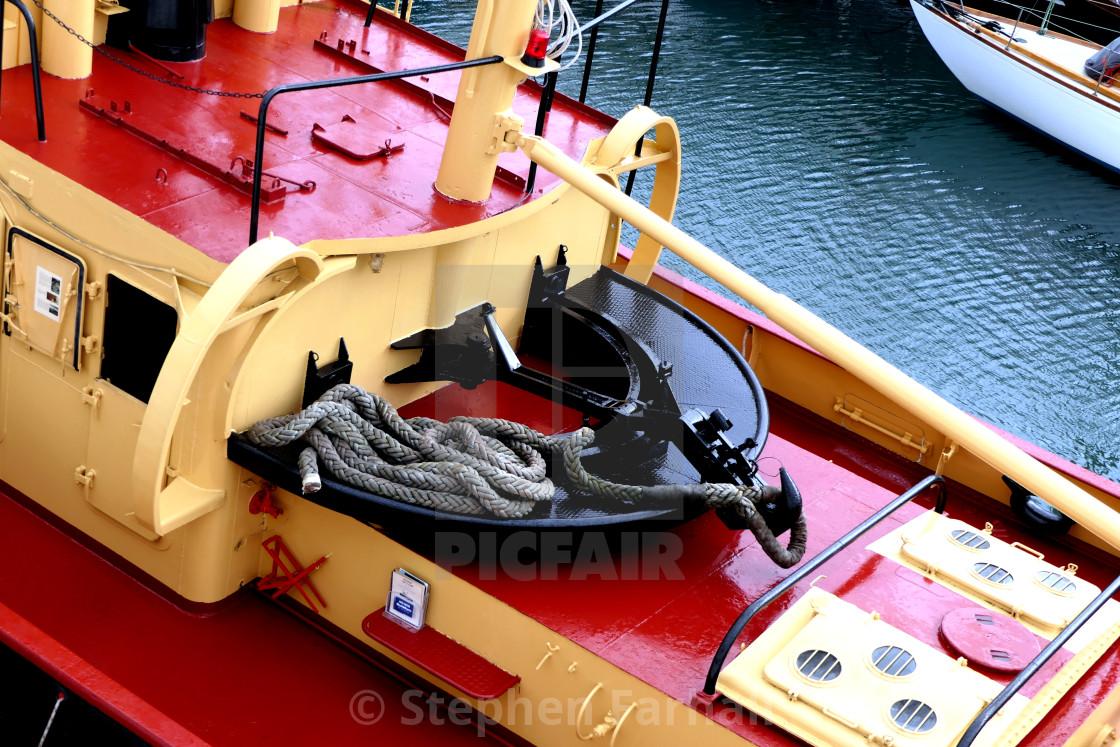 """Tugboat Pulling Hook"" stock image"