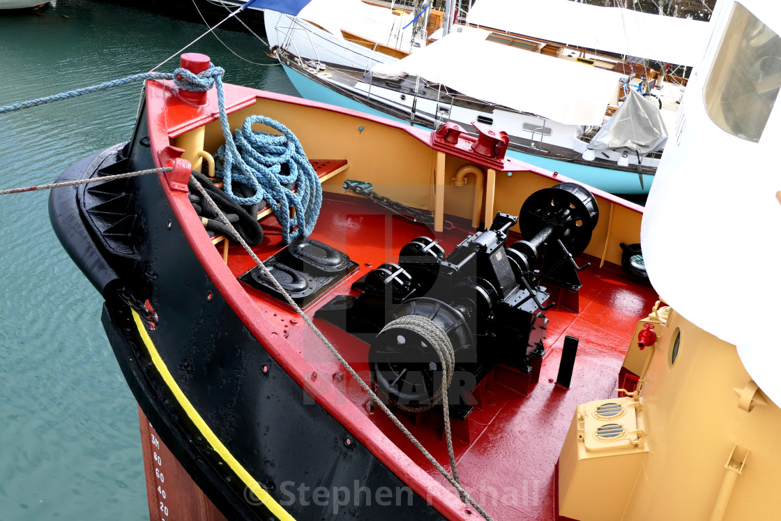 """Tugboat Winch"" stock image"